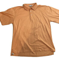 Peter Millar Polo Golf Shirt Size L Orange