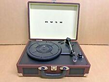 More details for bush classic turntable vinyl record player retro portable case built in speaker