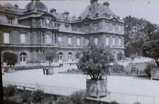 Palais du Luxembourg, Paris, France, Garden Facade, Magic Lantern Glass Slide