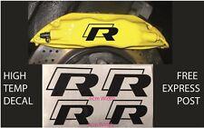 VW R BRAKE CALIPER DECAL HIGH TEMP (6cm & 5cm) Black Sticker Set x 4