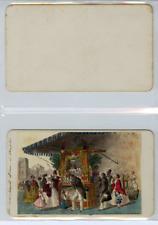 Italie, Naples Des marchands d'eau CDV vintage albumen carte de visite,
