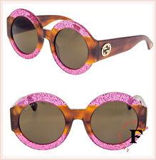 0affbdedf1 Gucci 0084 0084s 003 Fuchsia Havana Brown Glitter Sunglasses