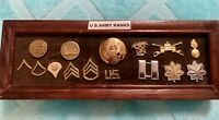 Lot Of 15 Vintage WWll Era U.S Military Army Rank Pins- Authentic
