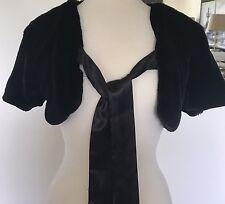 Charlotte Russe Womens Short Sleeve Black Evening/Casual Wrap/Evening Jacket M