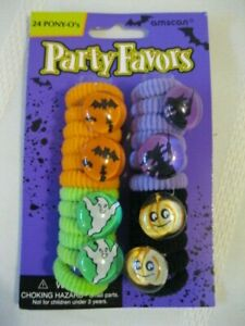 New Halloween 24 Party Favor Pony O's Elastic Ponytail Hair Bands