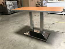 "10 pcs Wood Table 24"" x 48"" Stainless Steel Base Tf70"