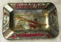 Vintage Souvenir Metal Ashtray BAGNELL DAM Lake of the Ozarks Missouri