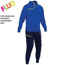 Tuta Relax Givova Lf28 Poker cotone French Terry Training Tracksuit Azz/blu M