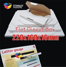 200x Flat Mailing Diecut Box Mailer Rigid Envelope Letter 220x160x16mm