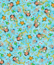 FABRIC Quilting Treasures ~ MERMAID MERRIMENT ~ Mary Engelbreit (26521 B) 1/2 yd