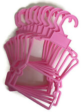 "10 Pink Plastic Outfit Hangers(1 Dozen) made for 18"" American Girl Doll Clothes"