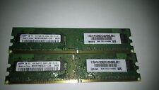 2x 1 Go PC2-5300 667 MHz CL5 origine Samsung Mémoire M378T2863QZS-CE6