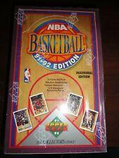 Set of 2 Upper Deck 1991-1992 NBA Basketball Cards Inaugural Edition Lot 1