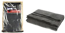 "New Wool Blanket Gray Blend Emergency Survival Camping Wilderness 51"" x 80"" Warm"