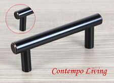 "4"" Solid Kitchen Cabinet Bar Pull Handle With Oil Rubbed Bronze Finish ORB"