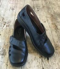HOTTER BLISS Black Leather Comfort Concept Flats Shoes Loafers Women UK 7