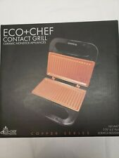 New Eco + Chef Contact Grill 760 Watts Copper Series Ceramic Nonstick