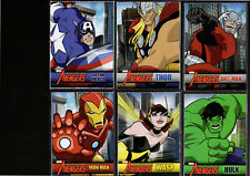 "Lot(6)2010 SI Kids""Movie Ad""MARVEL AVENGER Cards,Thor/Iron Man/Hulk/Capt America"