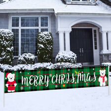 Merry Christmas Outdoor Tür Banner Curtain Home Decoration Ornaments