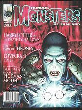 FAMOUS MONSTERS OF FILMLAND 255 HORROR MAGAZINE HP LOVECRAFT HARRY POTTER