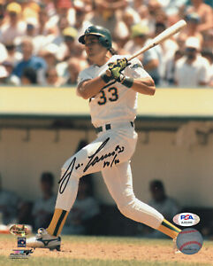 Jose Canseco Autographed 8x10 Baseball Photo With 40/40 Inscription PSA/DNA