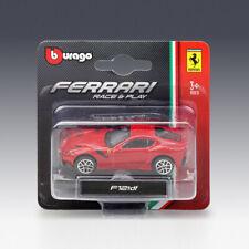 NEW RED 1:64 MINI BBURAGO RACE&PLAY FERRARI F12 TDF DIECAST MODEL CARS KIDS TOYS