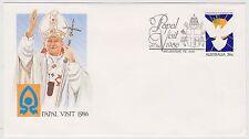 (ICF177) 1986 AU Cover 36c Papal visit Special cancel (H)