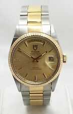 TUDOR ROLEX Oyster Prince Day Date Stainless 18k Yellow Gold Men's Watch
