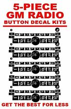 5 Piece Lot GM CHEVROLET Stereo Radio Button Repair Decals