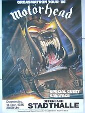 MOTÖRHEAD 1986  OFFENBACH + orig. Concert Poster - Konzert Plakat  A1 TOPZUSTAND