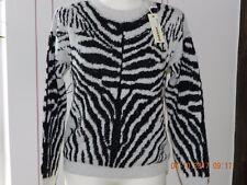 Diesel Pullover Strick Damen Gr. 40 (L) natur-schwarz zebra NEU!