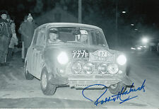 Paddy Hopkirk Hand Signed Mini Cooper Photo 12x8 13.