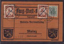 Dt. Reich, Mi-Nr. IV (gelber Hund) , 2x auf Flug-Post-Karte