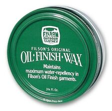 Filson Original Oil Finish Wax 3.75 oz Container - New !