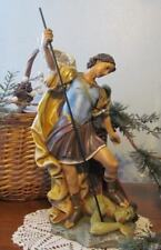 "St. Michael Archangel Statue Incredible Detail 16"" Beautiful Face Indoor Outdoor"