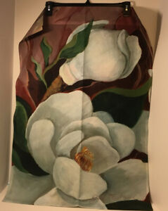 """Toland Lg Outdoor Garden Flag 24"""" x 35"""" White Orchid Double Sided USA"""