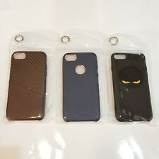 Lot of 3 - iPhone 7 Case Thin Shockproof Bumper Cover Brown  Blue and Black