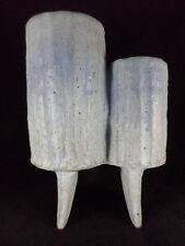 Brutalist Ikebana Studio Pottery Art Double Vase Mid Century Modern Vintage