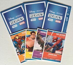 16 x Heroes 'Disney - Marvel - Pixar - Star Wars' - Trading Cards By Sainsburys.