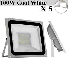 5 Set 100W Led Flood Light Cool White Super Bright Outdoor Lighting museum Lamp