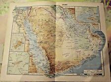 1962 Carte & Image Arabie Saoudite San'a Yemen,port pétrolier Ras Tannura,Bagdad