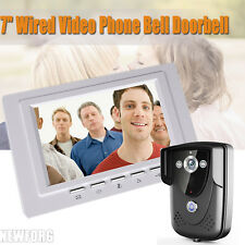 """7"""" Wired Video Phone Bell Doorbell Home Security IR Camera Monitor Night Vision"""