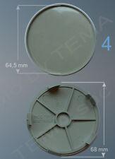 4 Borchie coprimozzo Ø 68 mm innesto 65 non original adattabili per cerchi lega