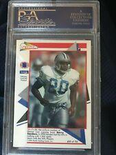1991 Pacific Barry Sanders Detroit Lions Flash Card #50 PSA 8 NM-MT