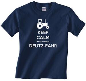 Kids, youth, boys tractor farming t-shirt - Keep Calm My Dad Owns a Deutz-Fahr