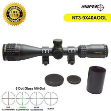 Sniper Nt3-9X40Aogl Rifle Scope Glass Etched R/G/B Illuminated Reticle Warranty