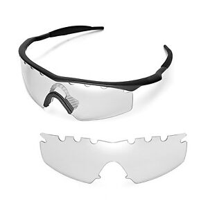Walleva Clear Vented Replacement Lenses For Oakley M Frame Strike Sunglasses