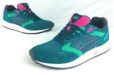 Asics Womens Gel Saga Classic Suede Shoes sz 9 US 40.5 EUR Green/Pink Watermelon