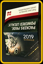 2019 GREEN BAY PACKER CENEX FOOTBALL POCKET SCHEDULE