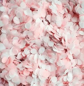 Pink & White Biodegradable Confetti - Wedding Decoration, Party/Baby Shower Mix